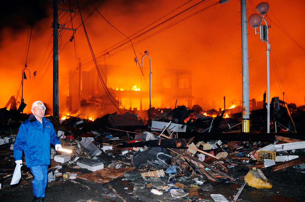 terremoto japon 8.9 2011 incendio Iwaki Fukushima