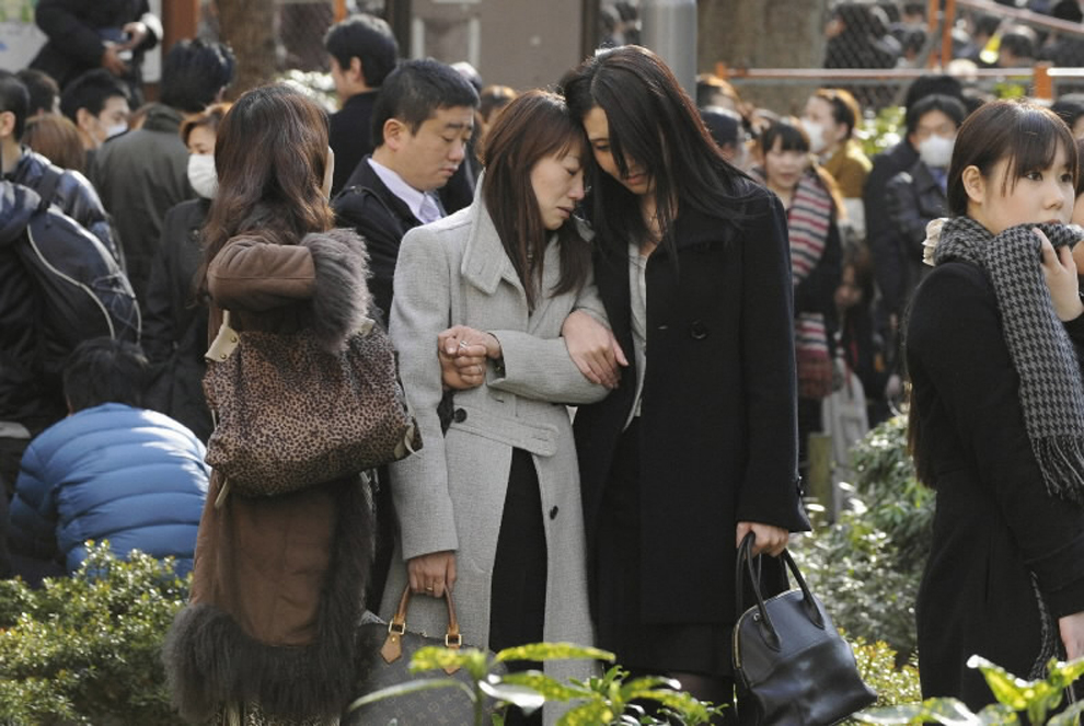 terremoto japon 8.9 2011 parque shinjuku tokio personas