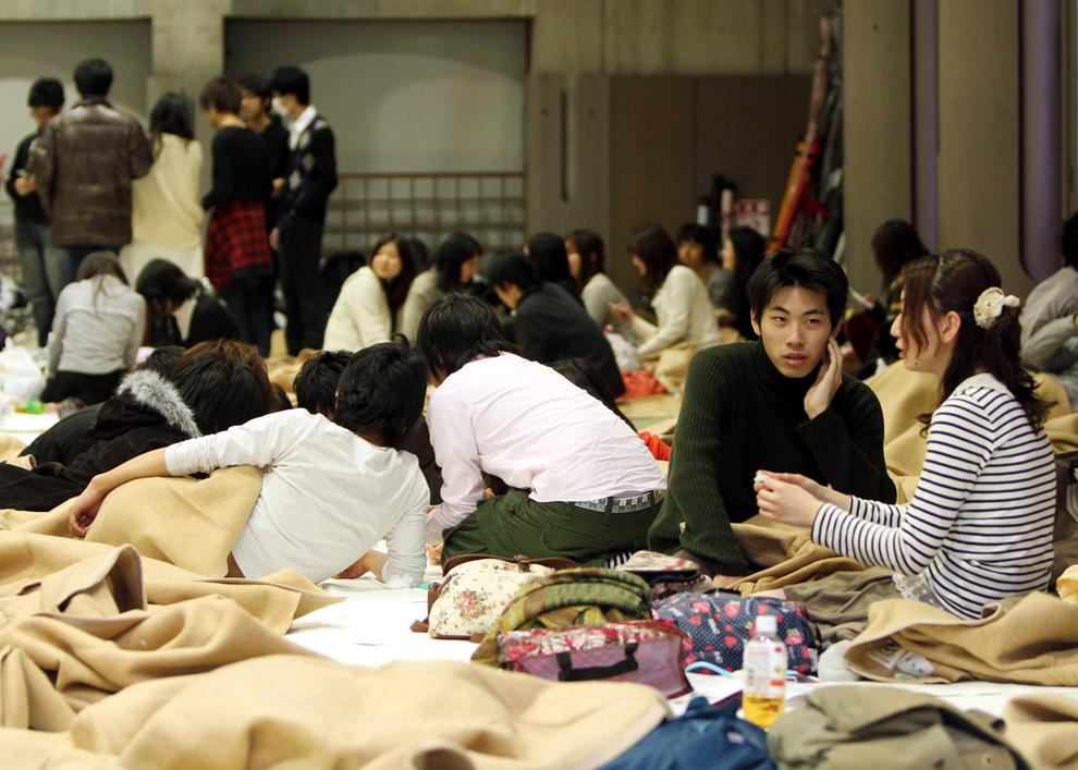 terremoto japon 8.9 2011 tokio evacuados personas evacuadas
