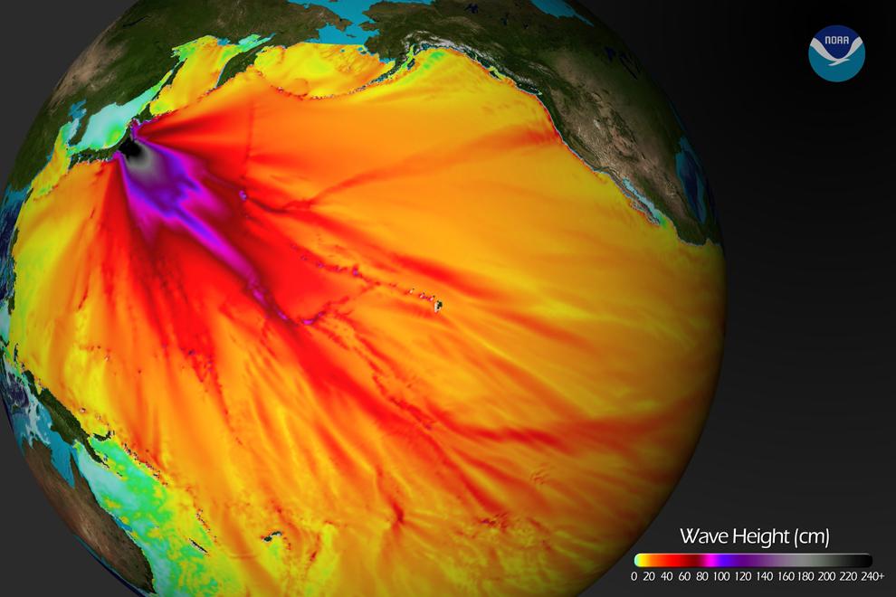 terremoto japon 8.9 2011 tsunami mapa altura olas pacifico oceano