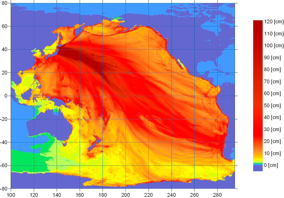 terremoto japon 8.9 2011 tsunami mapa intensidad oceano pacifico