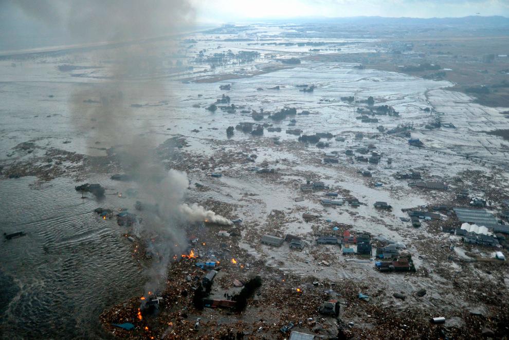 terremoto japon 8.9 2011 tsunami natori miyagi olas hundido
