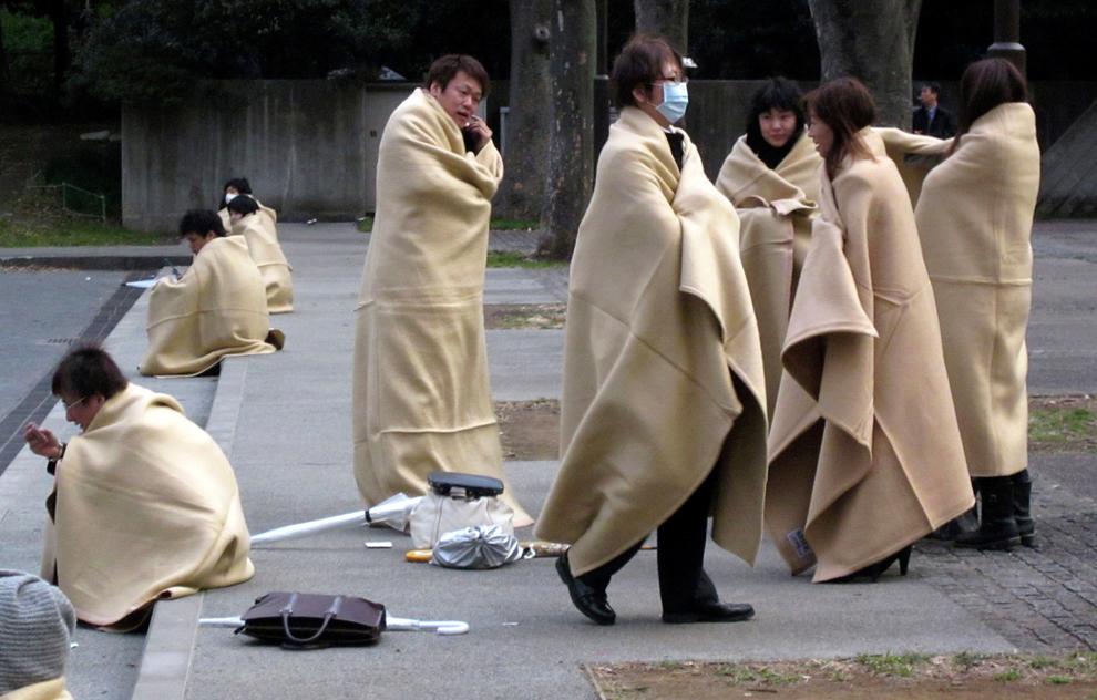 terremoto japon 8.9 2011 yokohama parque tokio gente abrigada