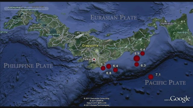 terremotos japon video grafico seismos mapa