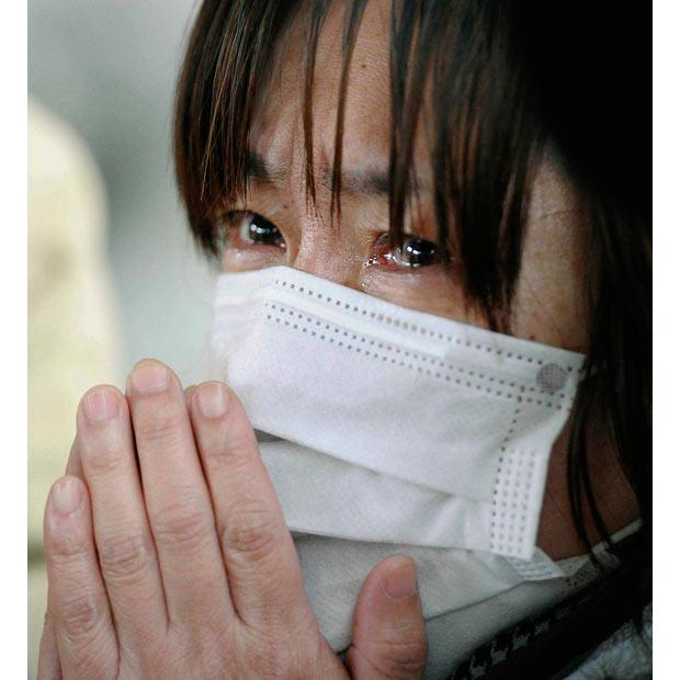 tsunami japon terremoto 2011 Kesennuma Miyagi mujer llorando