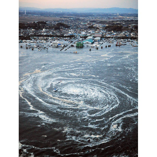 tsunami japon terremoto 2011 mar remolino Oarai Ibaraki