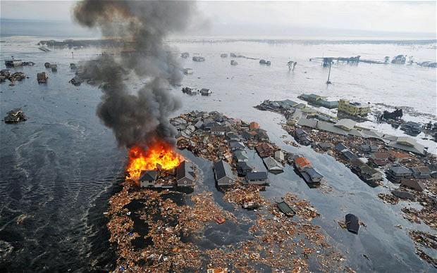 tsunami japon terremoto 2011 sendai casas incendios