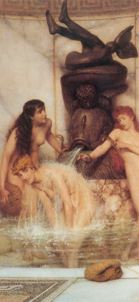 Lawrence Alma Tadema Strigils and sponges bano romano griego