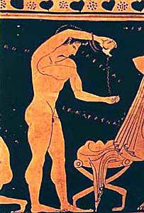 antigua grecia jabon aceites higiene bano