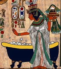 cleopatra bano egipcios jabon higiene aseo