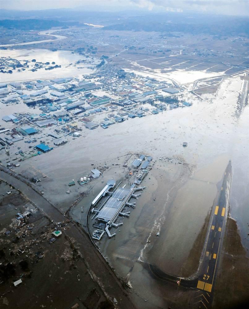 earthquake tsunami japan 11 2011 march sendai airport