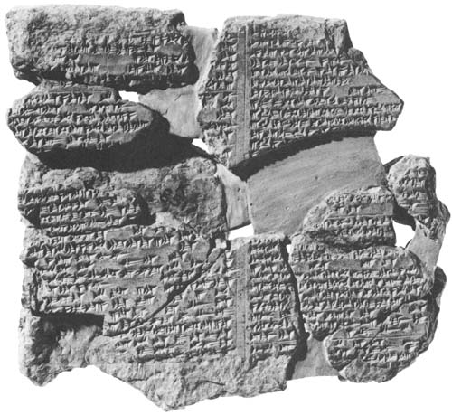Epic of Gilgamesh Tablet 11.i(from Gardener and Maier, 1984)