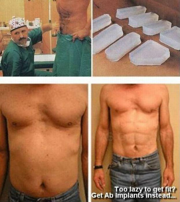 imagenes risa implantes silicona tableta barriga