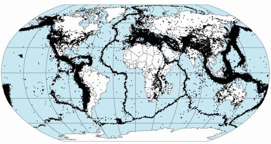 mapa 1963 1998 terremotos zonas sismicas