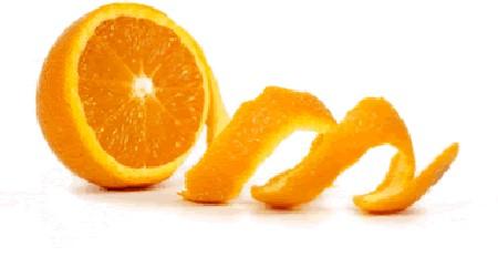 naranja pelada cascara