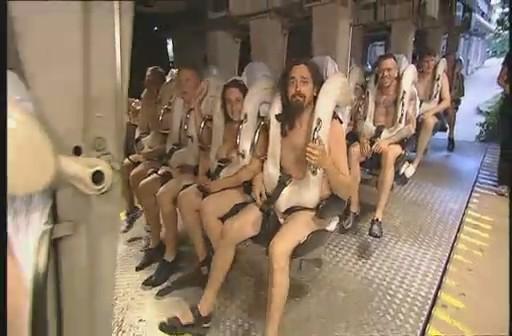 record personas desnudas parque atracciones