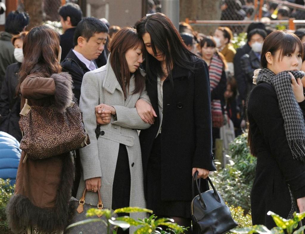 terremoto tsunami japon 11 2011 marzo Shinjuku Central Park Tokio