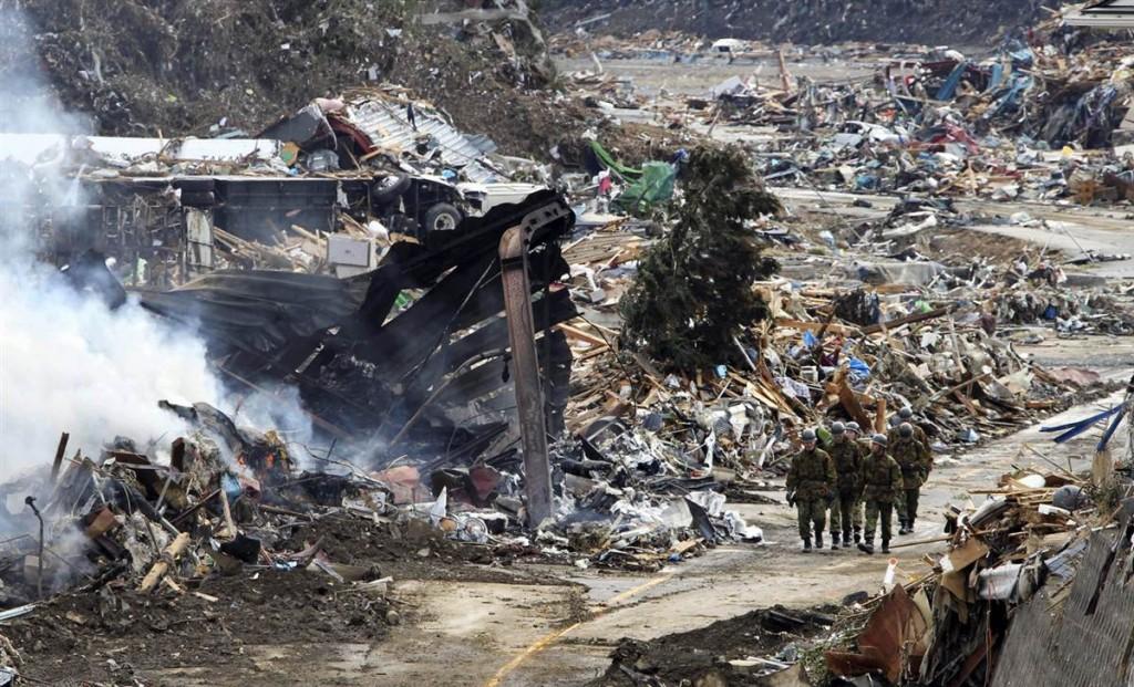 terremoto tsunami japon 2011 marzo 12 soldados minamisanriku