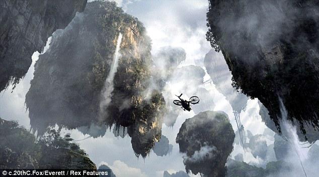 Avatar Movie montanas pelicula flotantes