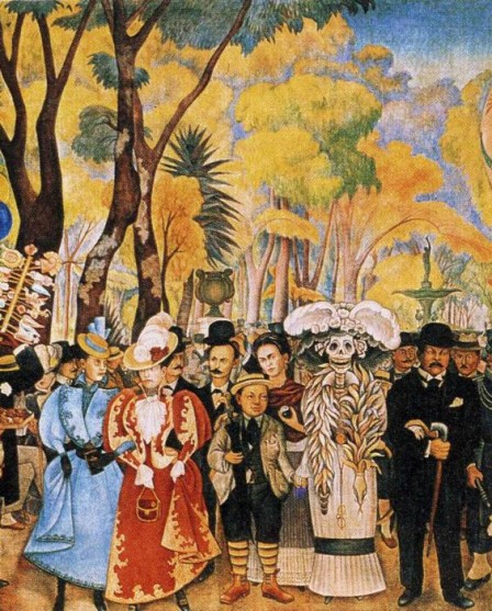 Dream of a Sunday Afternoon in Alameda_Park frida kahlo