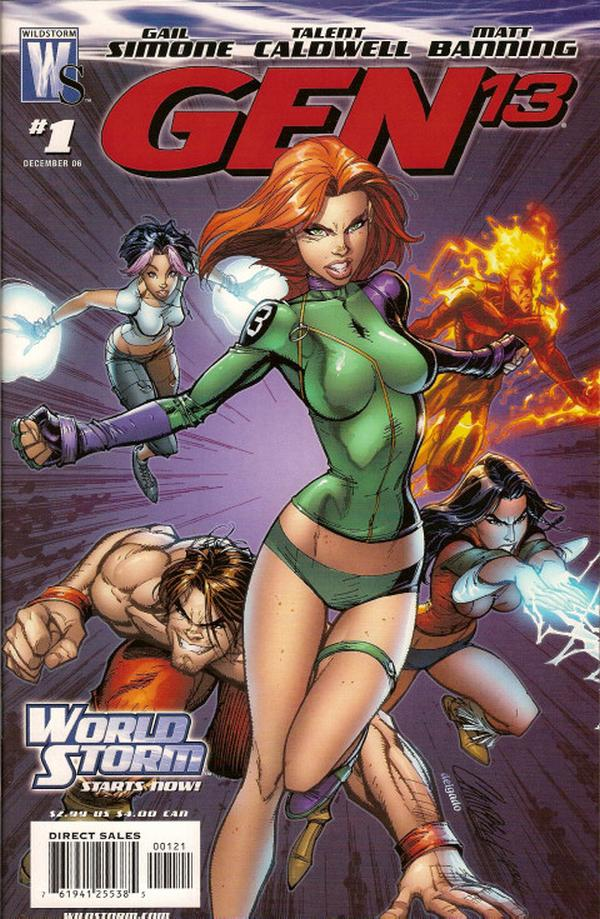 Jeffrey Scott Campbell comic gen 13 cover
