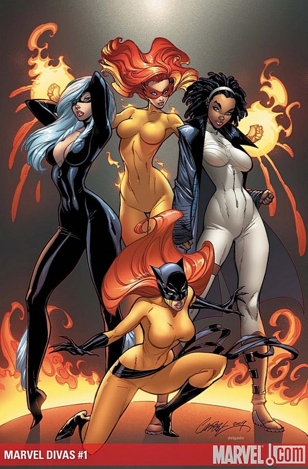 Jeffrey Scott Campbell comic marvel divas