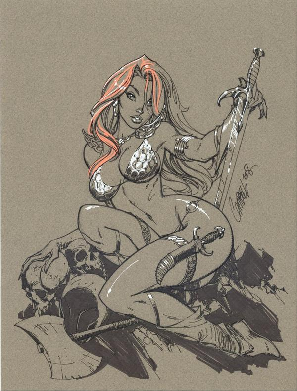 Jeffrey Scott Campbell comic red sonja