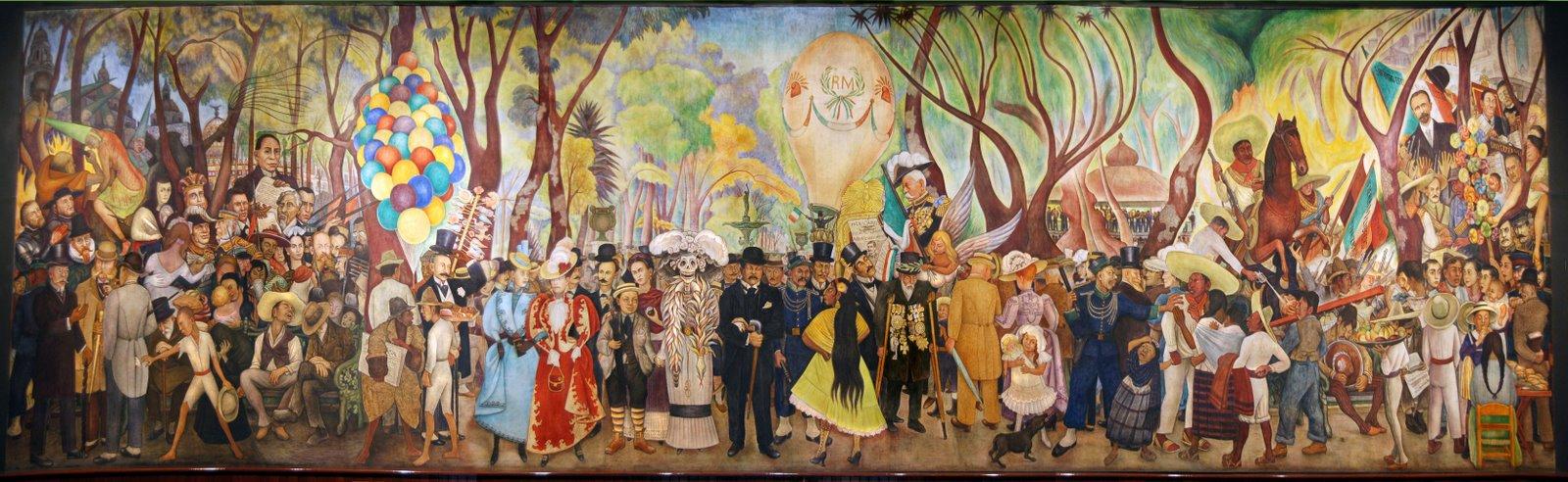 Sue o de una tarde dominical en la alameda blogodisea for Caracteristicas de un mural