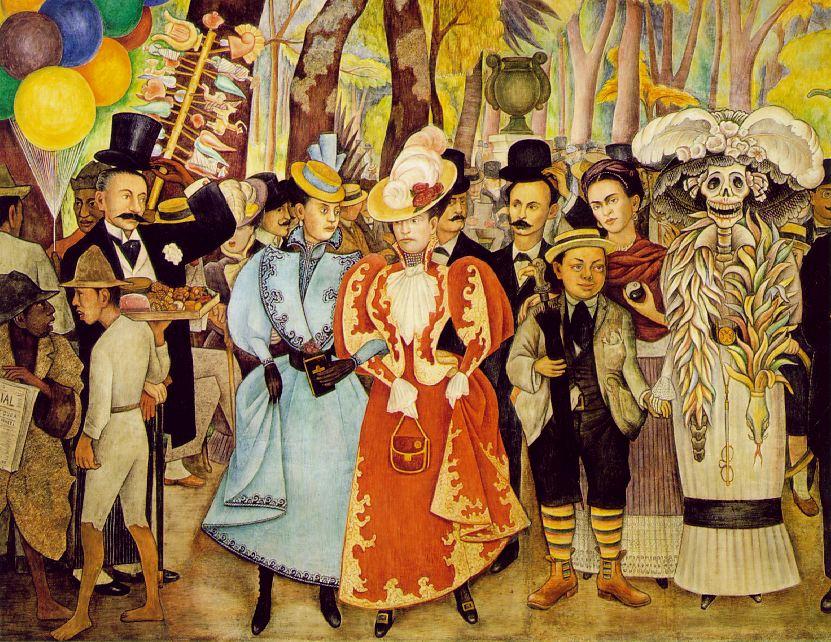 Sueno de una tarde Dominical en la Alameda frida kahlo