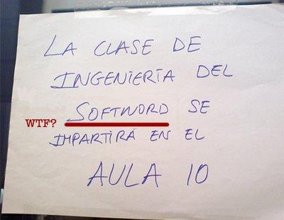 cartel nota softword clase fail