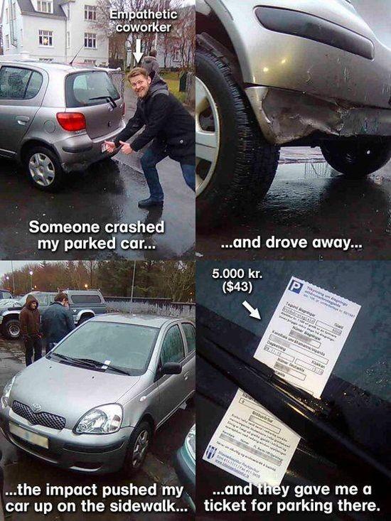 coche accidente topan multa