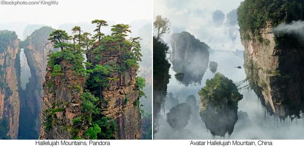 comparacion montanas avatar china
