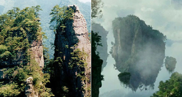 comparison mountains avatar china
