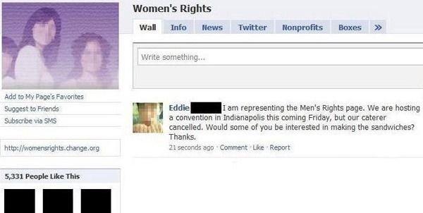derechos mujer facebook broma machista sandwiches