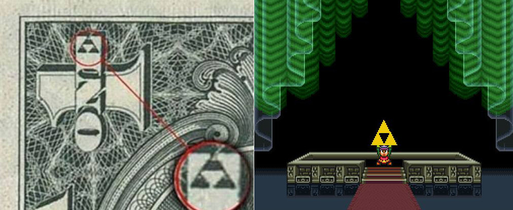 dolar triforce zelda piramide
