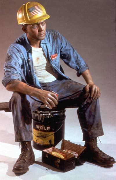 duane hanson escultura figura Hard Hat Construction Worker