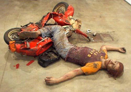 duane hanson escultura figura Motorcycle accident 1967