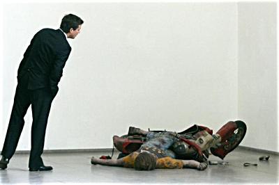 duane hanson escultura figura Motorcycle accident