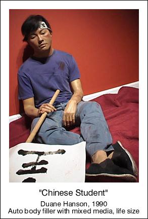 duane hanson escultura figura chinese student