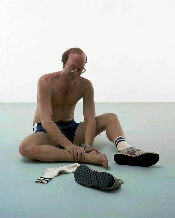 duane hanson escultura figura jogger