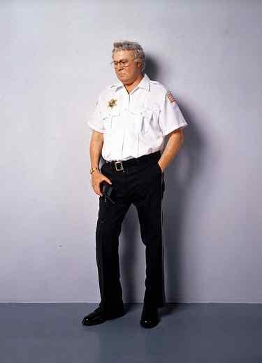 duane hanson escultura figurra guardia de seguridad 1990
