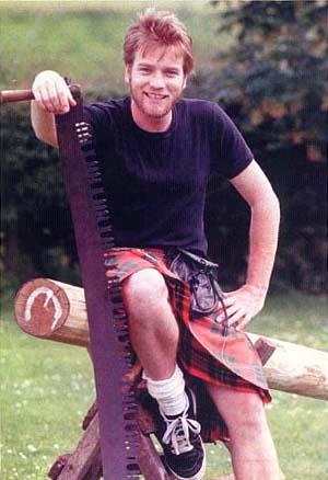 ewan mcgregor kilt falda escocesa