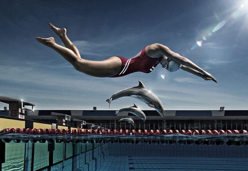 imagenes-arte-artisticas-delfin-nadador