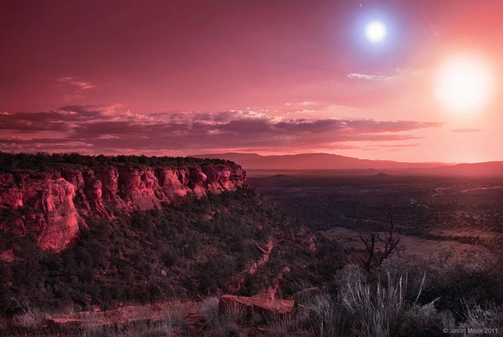 planeta dos soles estrellas