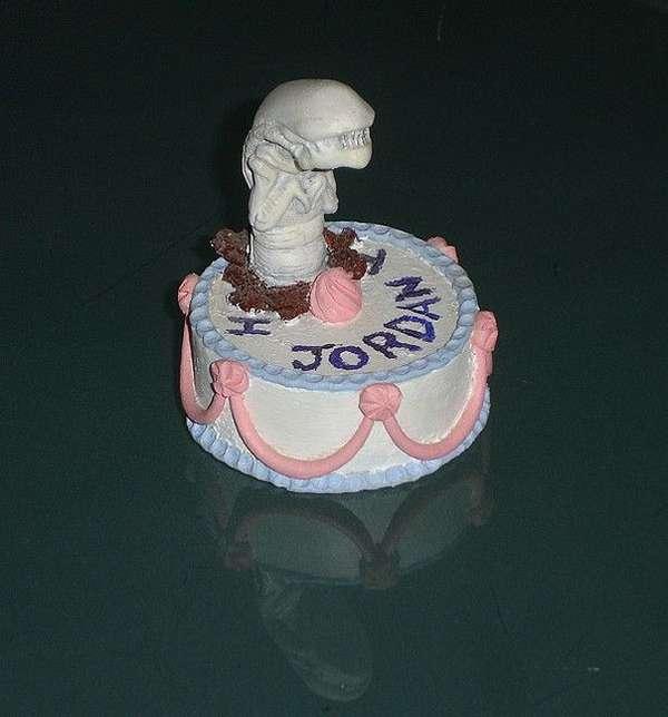 tarta pastel alien pelicula saga