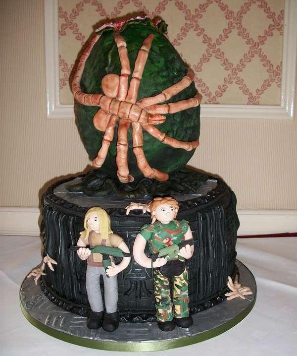 tartas pasteles alien facehugger