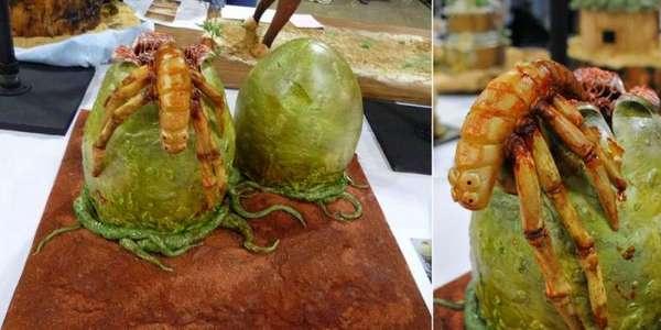 tartas pasteles alien huevo criatura