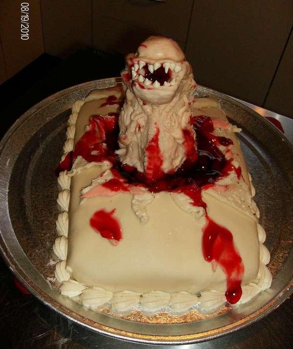 tartas pasteles alien revientapechos chestburster