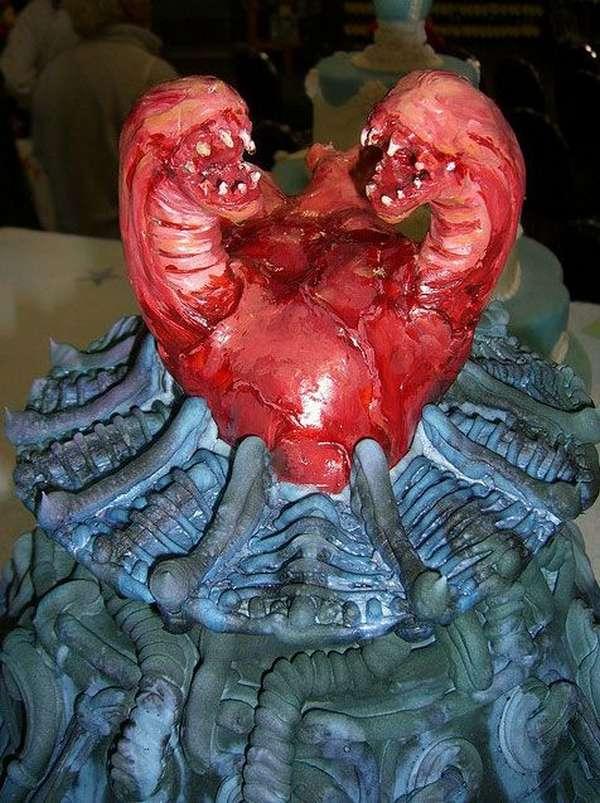 tartas pasteles alien sangre cria