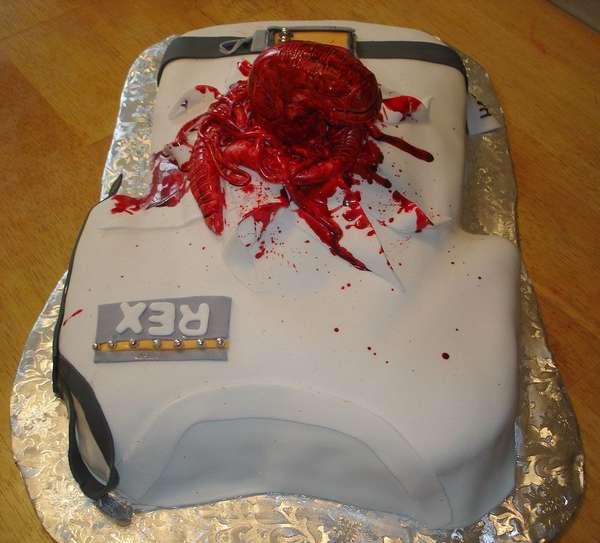 tartas pasteles alien sangre pelicula